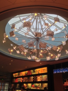 The lights that hang above the lobby at DAAR
