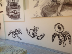 Concept Art on the wall of DAAR in the Lobby